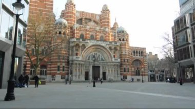 Westminster Cathedral in London — Stok video