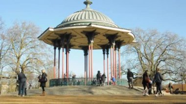 Clapham Common bandstand — Stock video