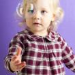 Baby girl with bubble — Stock Photo #43029713