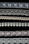 White lace patterns — Stock Photo
