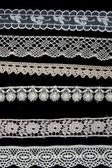 White lace patterns — Stock Photo