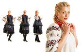 Ukrainian woman collage — Stock Photo