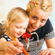 Mother and daughter drawing — Stock Photo #43256039