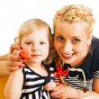 Mother and daughter drawing — Stock Photo #43256139