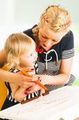 Mãe e filha de desenho — Foto Stock