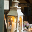 Lantern with burning candle — Stock Photo #45932957