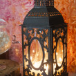 Lantern with burning candle — Stock Photo #45933361