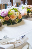 Table set for event party — Foto Stock