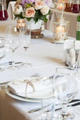 Table decorated for event party — Stock Photo