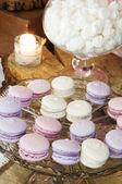 Macaroons e merengue — Fotografia Stock