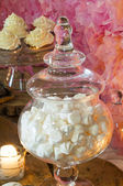Meringue on the candy bar — Stock Photo