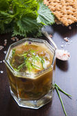 Grön soppa — Stockfoto