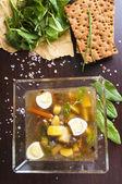 Zelená polévka — Stock fotografie