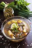 Grüne suppe — Stockfoto