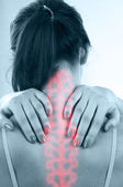 Pain in spine — Stock Photo