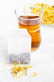 Calendula  tea — Stock Photo