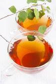 Birch tea — Stock Photo
