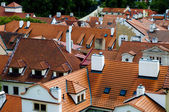 Red roofs in Prague — Stock Photo