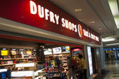 Duty Free Shops in Prague Airport — Stock Photo