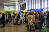 People in the Vaclav Havel Airport — Stock Photo