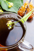 Cup of linden tea — Stock Photo