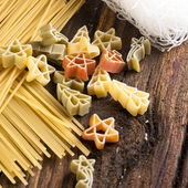 Figured Pasta and noodles — Stock Photo