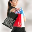 Beautiful girl with shopping bags — Stock Photo #6726897