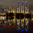 Royalty-Free Stock Vektorgrafik: City time lapse night view