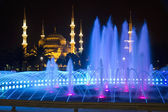 Blue Mosque in Istanbul at Night — Stock Photo