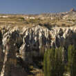 Ancient Cavetown Near Goreme Turkey Cappadocia — Foto de Stock