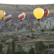 Hot Air Balloons Over Cappadocia Turkey in the Morning — Stock Photo