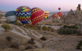 Hot Air Balloons Over Cappadocia — Stock Photo
