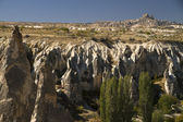 Ancient Cavetown Near Goreme Turkey Cappadocia — Stock Photo