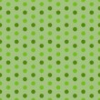 Green Dots Seamless pattern — Stock Vector
