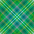 Green tartan seamless background - Stock Vector
