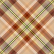 Brown tartan seamless background — Imagens vectoriais em stock
