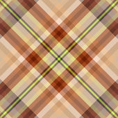 Brown tartan seamless background — Stock Vector