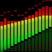 Vector illustration of a digital equalizer — Stock Vector