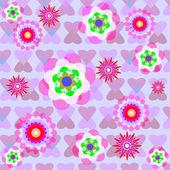 Bezszwowe tło ilustracja kwiaty — Wektor stockowy