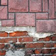 图库照片: Old grunge brick wall