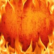 Stock Photo: Grunge fire wall background