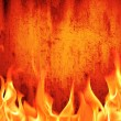 Grunge fire wall background — Stock Photo #21734703