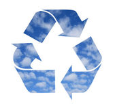 Recycle symbol made from clouds — Stock Photo