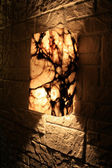 Lampe moderne dans le style gothique. architecture cool — Photo