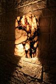Moderní lampa v gotickém stylu. cool architektura — Stock fotografie