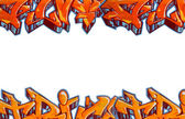 Graffiti isolated background — Stock Photo