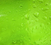 Abstract green drops of water — Stock Photo