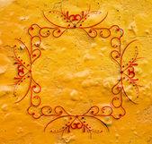 Fond grunge orange avec cadre vintage cool — Photo