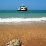 Ship in the sea — Stock Photo