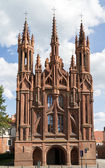 Gothic Style St. Anne Church in VIlnius, Lithuania — Stock Photo